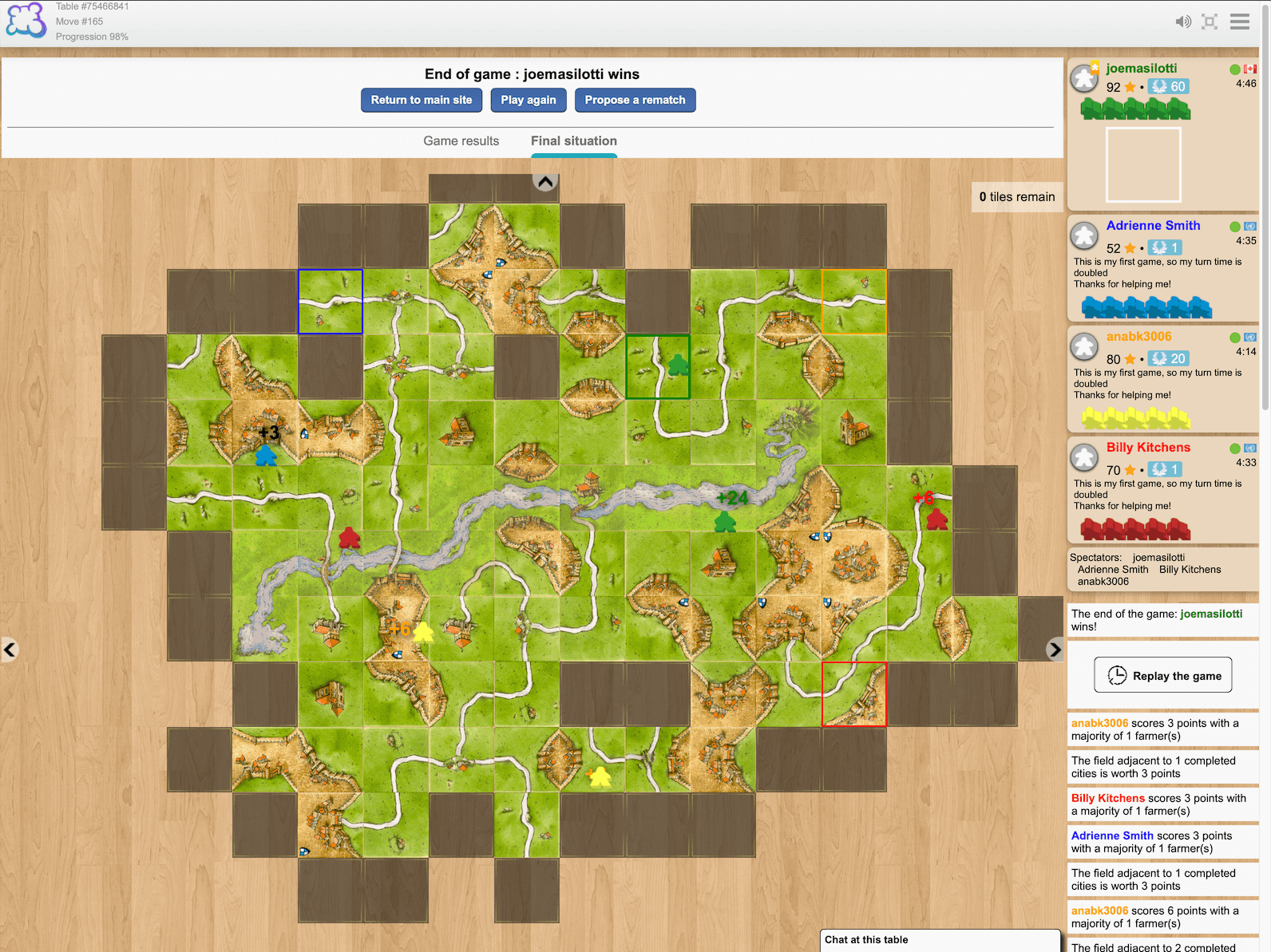 Carcassonne on Board Game Arena